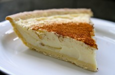 Milktart slice